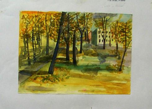 Малює Олена Петрик. Осінь у Полтаві